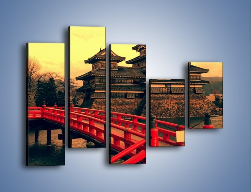 Obraz na płótnie – Japońska architektura – pięcioczęściowy AM235W4