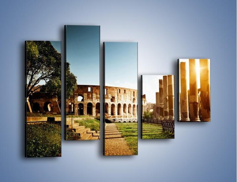 Obraz na płótnie – Koloseum w świetle słońca – pięcioczęściowy AM269W4