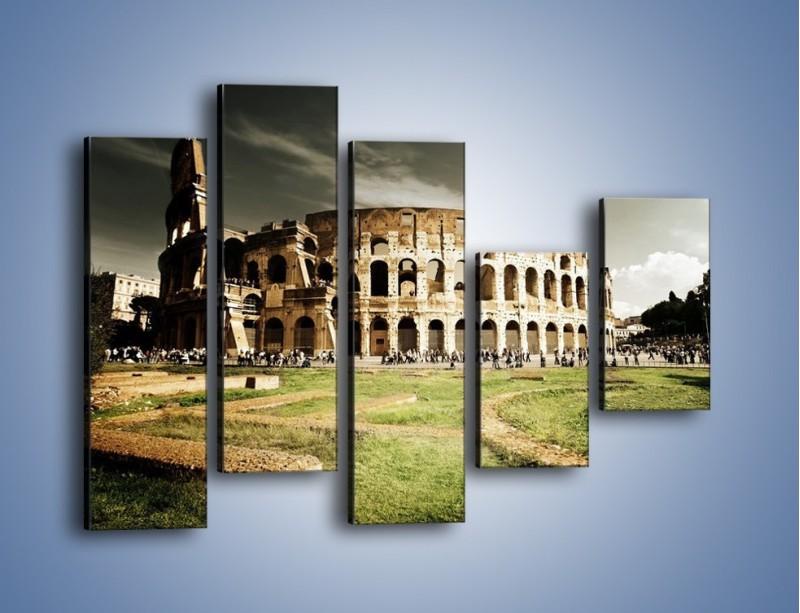 Obraz na płótnie – Koloseum przed burzą – pięcioczęściowy AM271W4