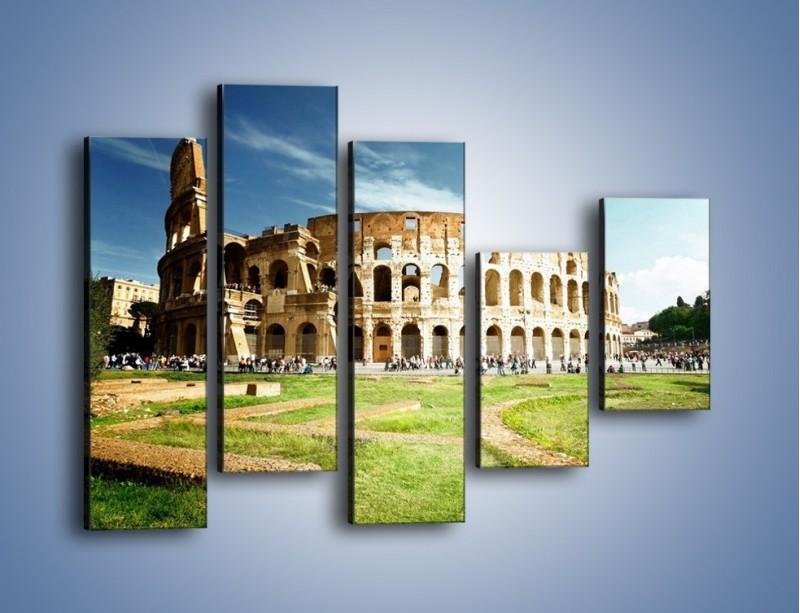 Obraz na płótnie – Koloseum w piękny dzień – pięcioczęściowy AM273W4