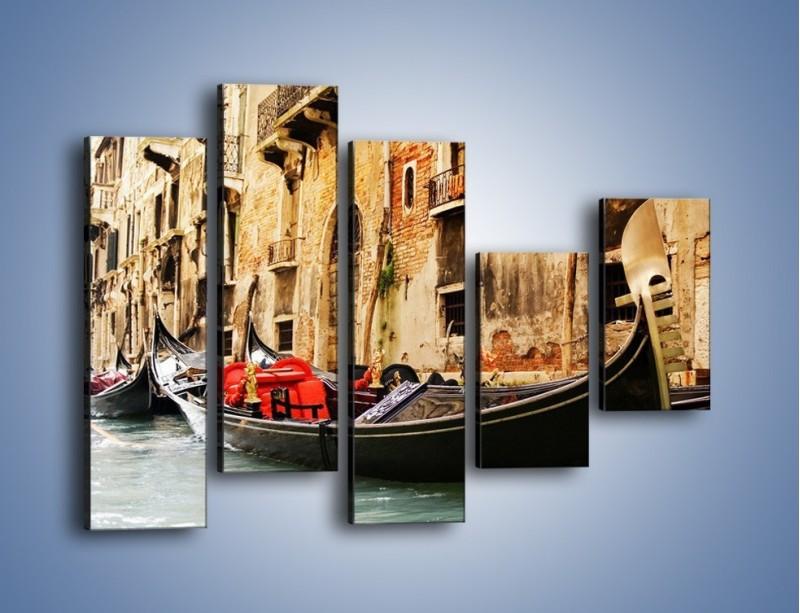 Obraz na płótnie – Wenecka gondola – pięcioczęściowy AM286W4