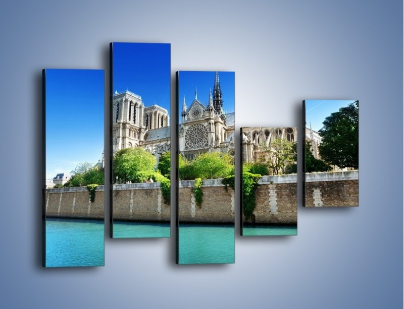 Obraz na płótnie – Katedra Notre-Dame – pięcioczęściowy AM305W4
