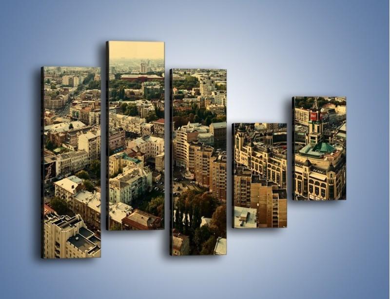 Obraz na płótnie – Panorama Kijowa – pięcioczęściowy AM326W4