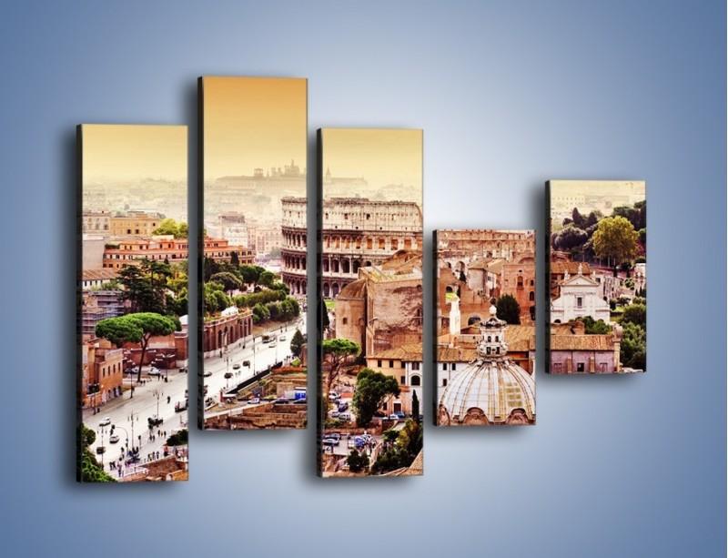 Obraz na płótnie – Panorama Rzymu – pięcioczęściowy AM338W4