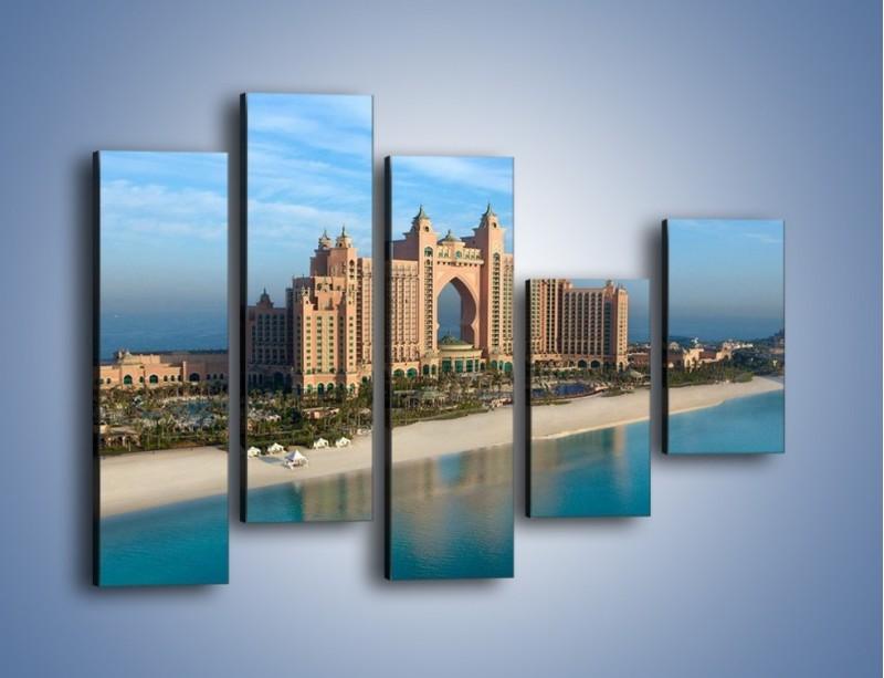 Obraz na płótnie – Atlantis Hotel w Dubaju – pięcioczęściowy AM341W4