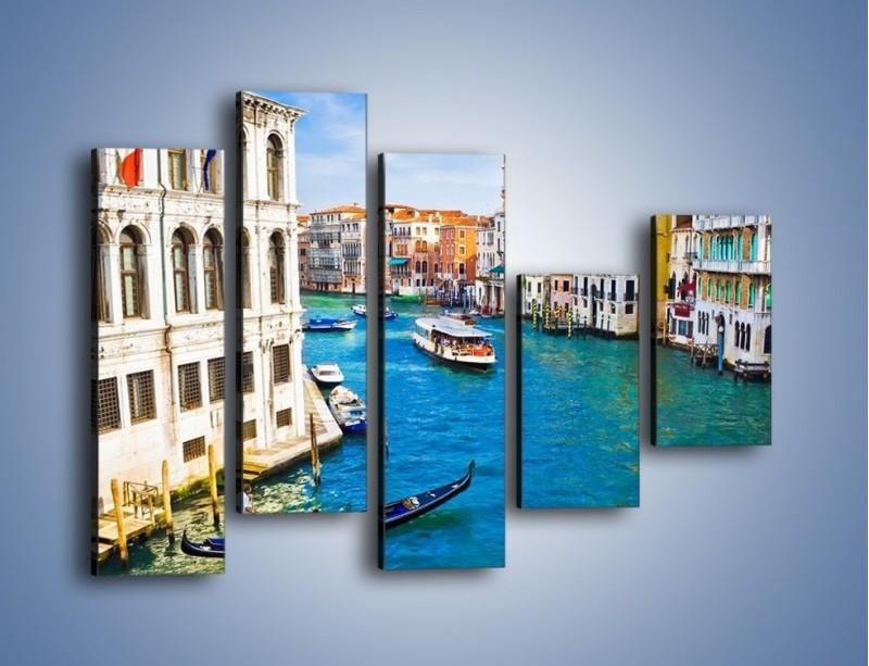 Obraz na płótnie – Kolorowy świat Wenecji – pięcioczęściowy AM362W4