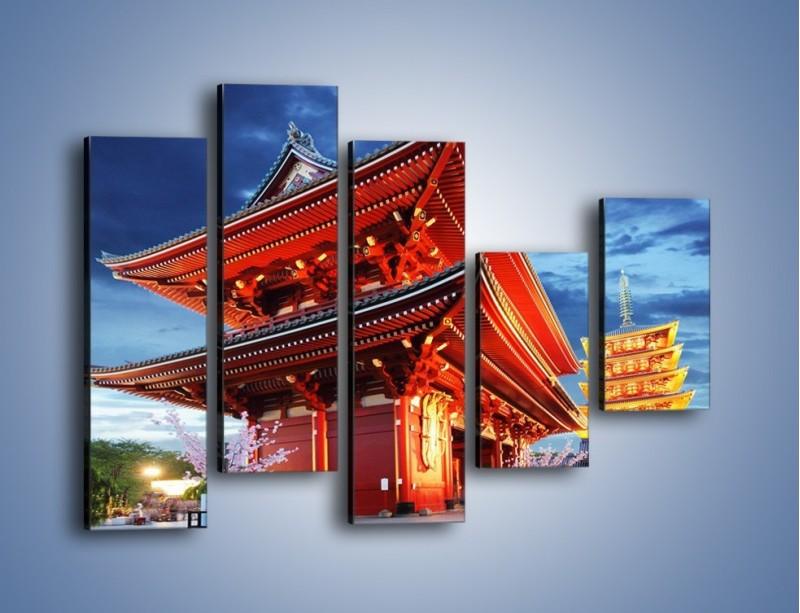 Obraz na płótnie – Świątynia Senso-ji w Tokyo – pięcioczęściowy AM378W4