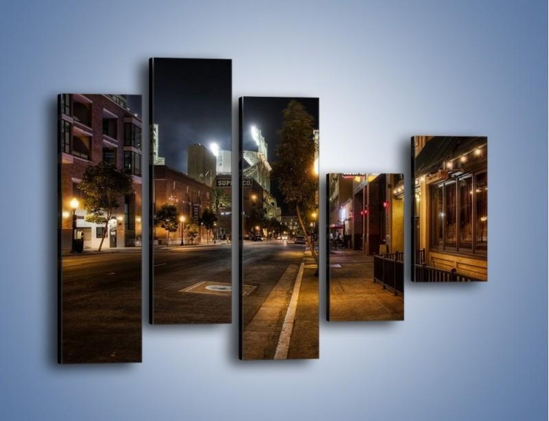 Obraz na płótnie – Ulica San Diego w Kaliforni – pięcioczęściowy AM390W4