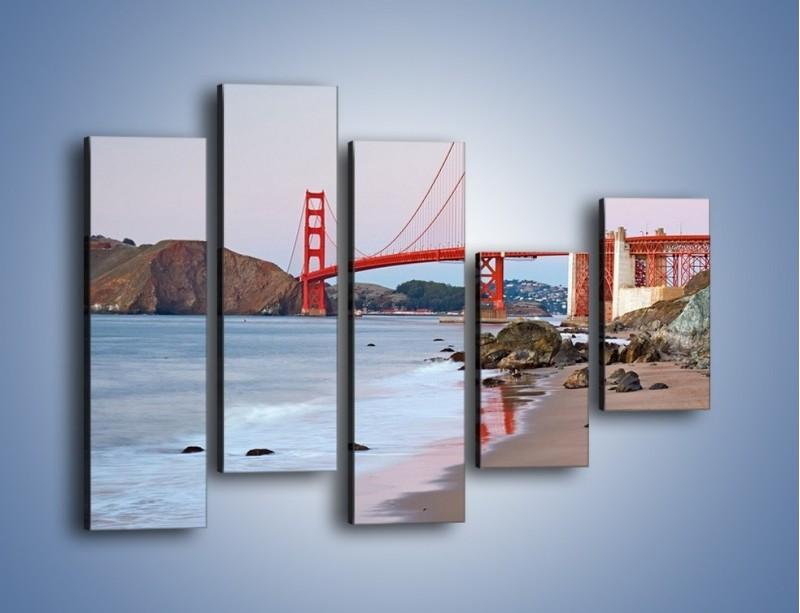 Obraz na płótnie – Most Golden Gate – pięcioczęściowy AM406W4