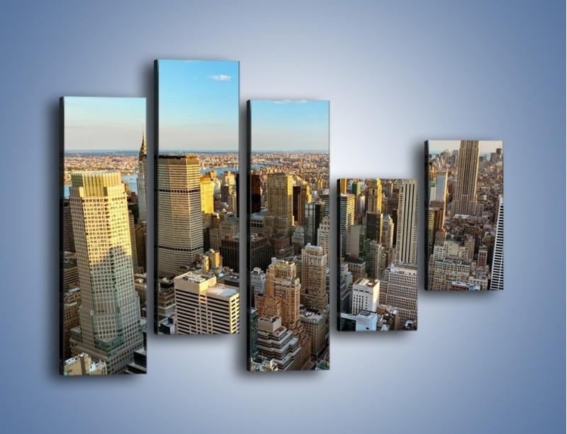 Obraz na płótnie – Manhattan w Nowym Yorku – pięcioczęściowy AM412W4