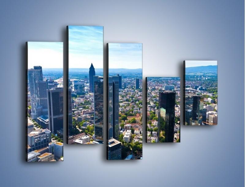 Obraz na płótnie – Panorama Frankfurtu – pięcioczęściowy AM414W4