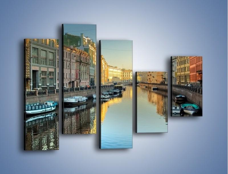 Obraz na płótnie – Kanał wodny w St. Petersburgu – pięcioczęściowy AM422W4