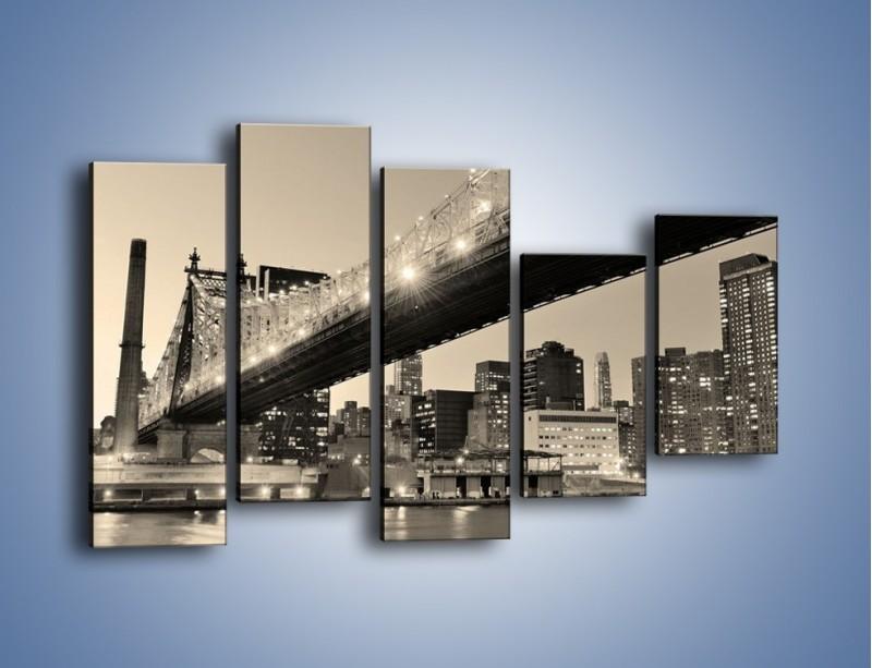 Obraz na płótnie – Most Qeensboro w Nowym Yorku – pięcioczęściowy AM438W4