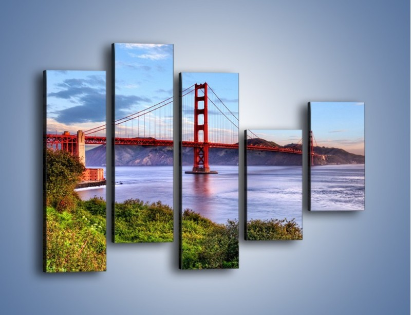 Obraz na płótnie – Most Golden Gate w San Francisco – pięcioczęściowy AM444W4