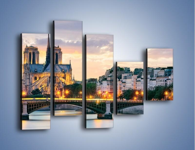 Obraz na płótnie – Katedra Notre Dame – pięcioczęściowy AM454W4
