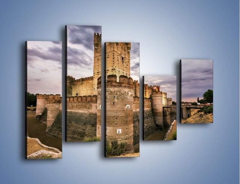 Obraz na płótnie – Zamek La Mota w Hiszpanii – pięcioczęściowy AM457W4