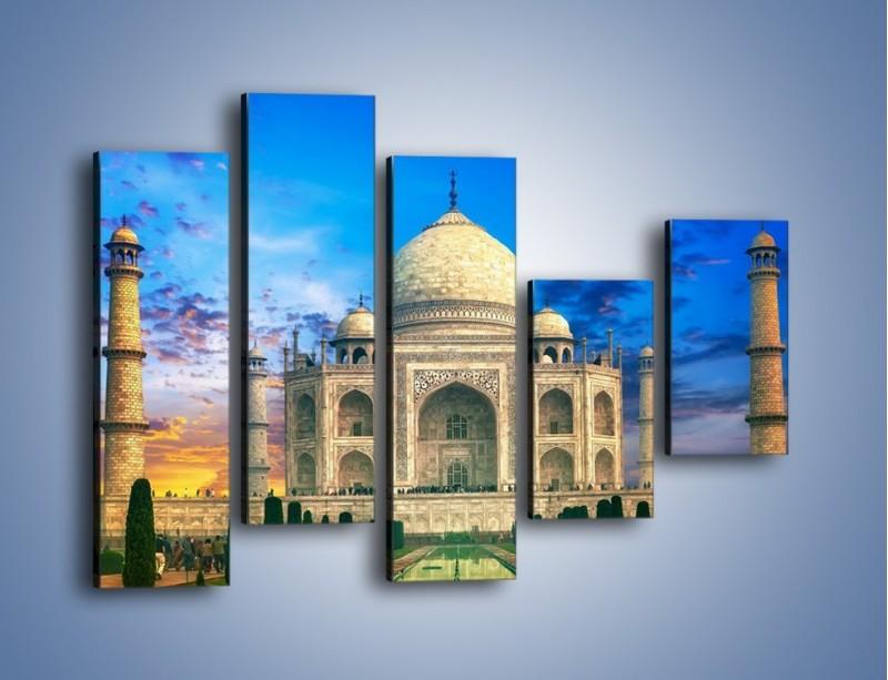 Obraz na płótnie – Tadź Mahal pod niebieskim niebem – pięcioczęściowy AM466W4