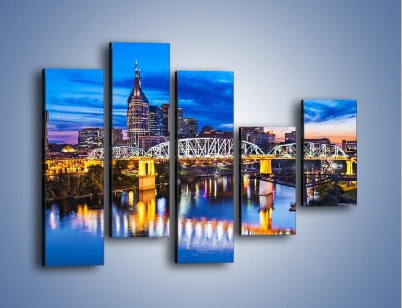 Obraz na płótnie – Most Shelby Street w Nashville – pięcioczęściowy AM489W4