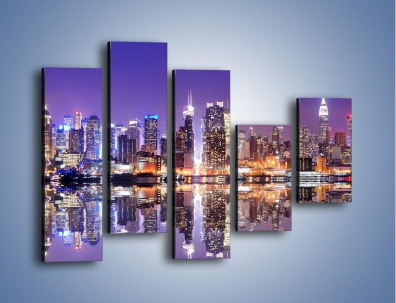 Obraz na płótnie – Panorama Midtown Manhattan – pięcioczęściowy AM492W4