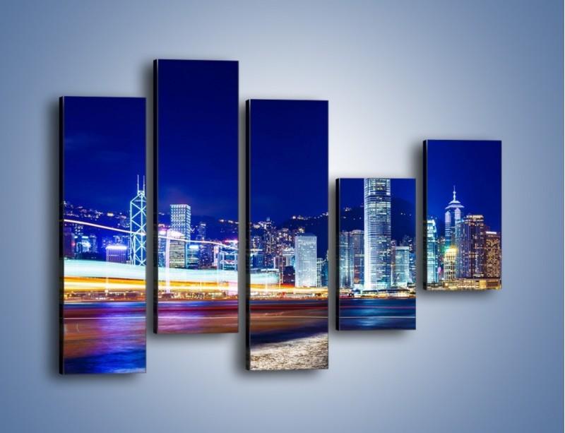 Obraz na płótnie – Panorama Hong Kongu – pięcioczęściowy AM499W4
