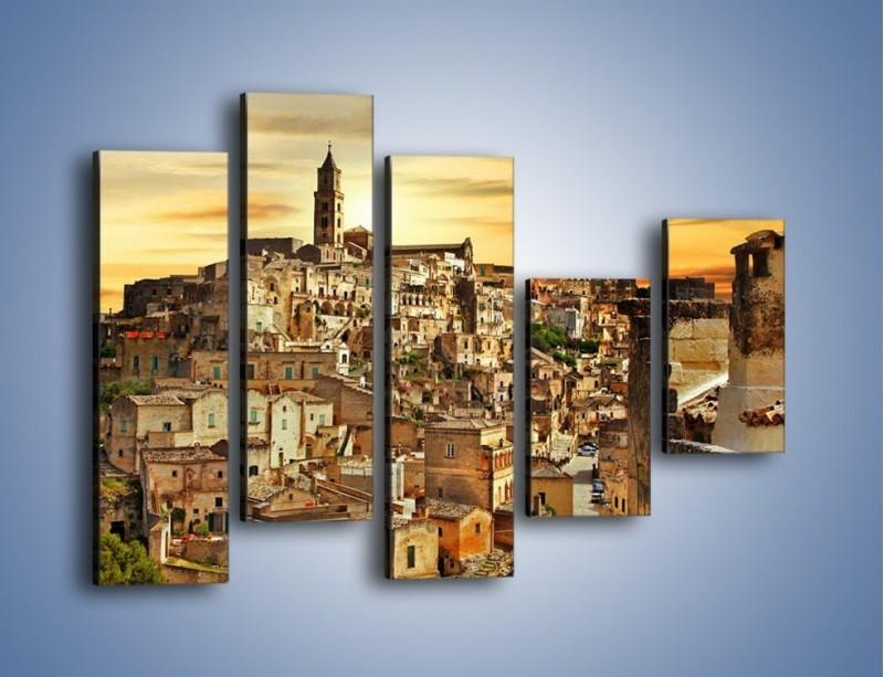 Obraz na płótnie – Matera – miasto wykute w skale – pięcioczęściowy AM517W4