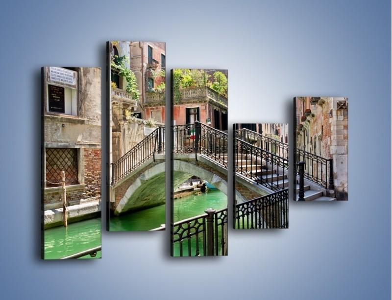 Obraz na płótnie – Wenecki most – pięcioczęściowy AM523W4