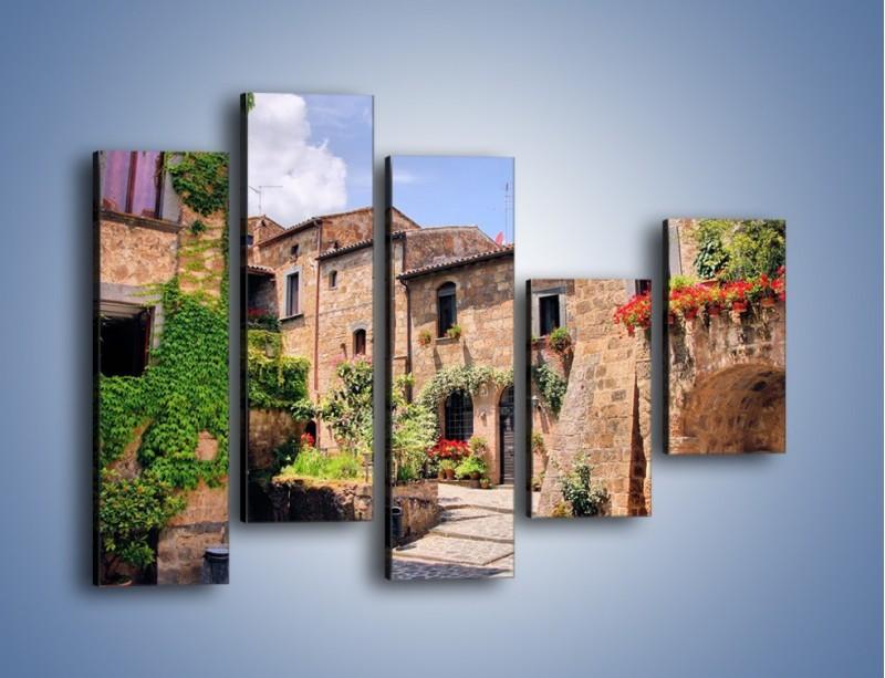 Obraz na płótnie – Romantyczna uliczka we Włoszech – pięcioczęściowy AM533W4