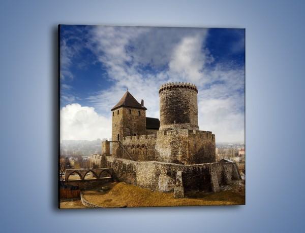 Obraz na płótnie – Średniowieczna fortyfikacja – jednoczęściowy kwadratowy AM201