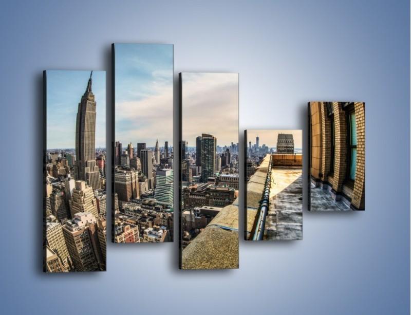 Obraz na płótnie – Empire State Building na Manhattanie – pięcioczęściowy AM610W4