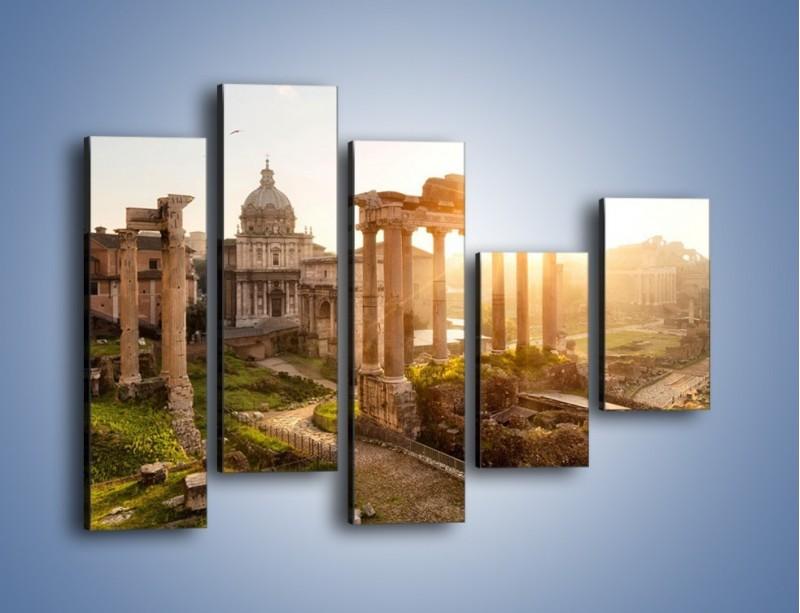 Obraz na płótnie – Starożytna architektura Rzymu – pięcioczęściowy AM638W4