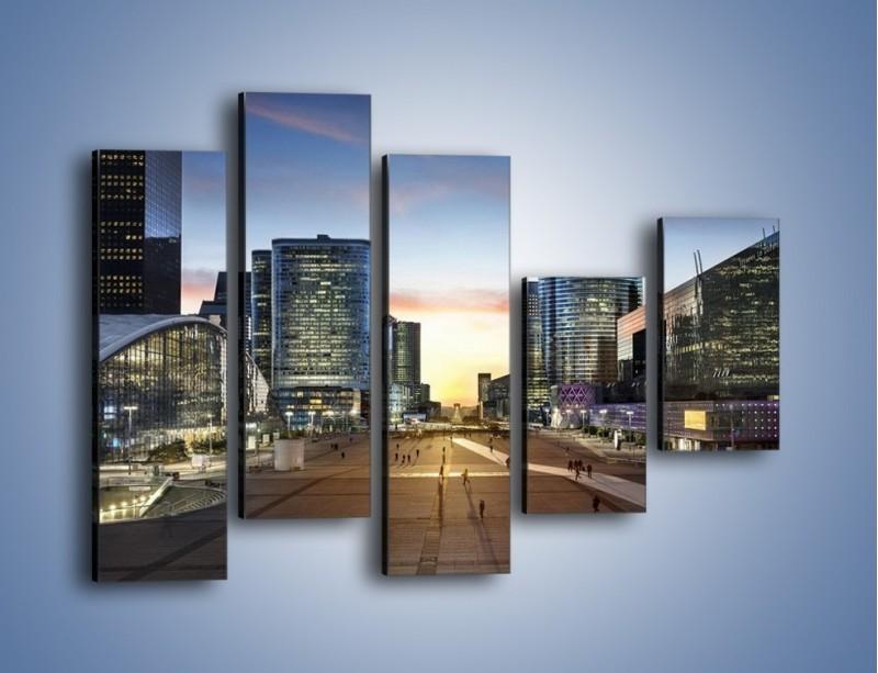 Obraz na płótnie – Quartier La Défense w Paryżu – pięcioczęściowy AM647W4