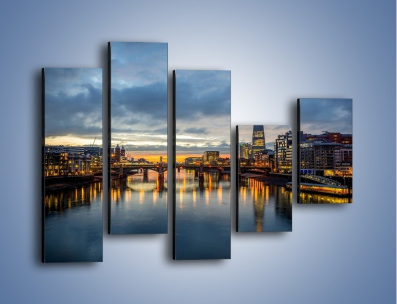 Obraz na płótnie – Millennium Bridge w Londynie – pięcioczęściowy AM651W4