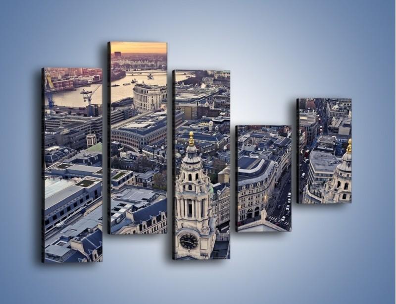 Obraz na płótnie – Widok na Londyn z Katedry św. Pawła – pięcioczęściowy AM652W4
