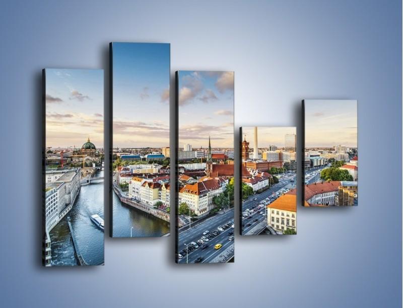 Obraz na płótnie – Panorama Berlina – pięcioczęściowy AM673W4
