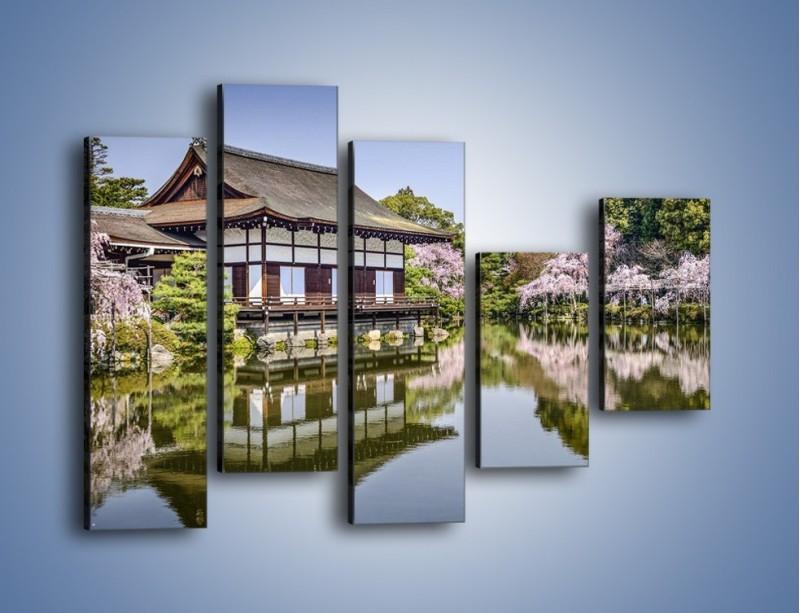 Obraz na płótnie – Świątynia Heian Shrine w Kyoto – pięcioczęściowy AM677W4