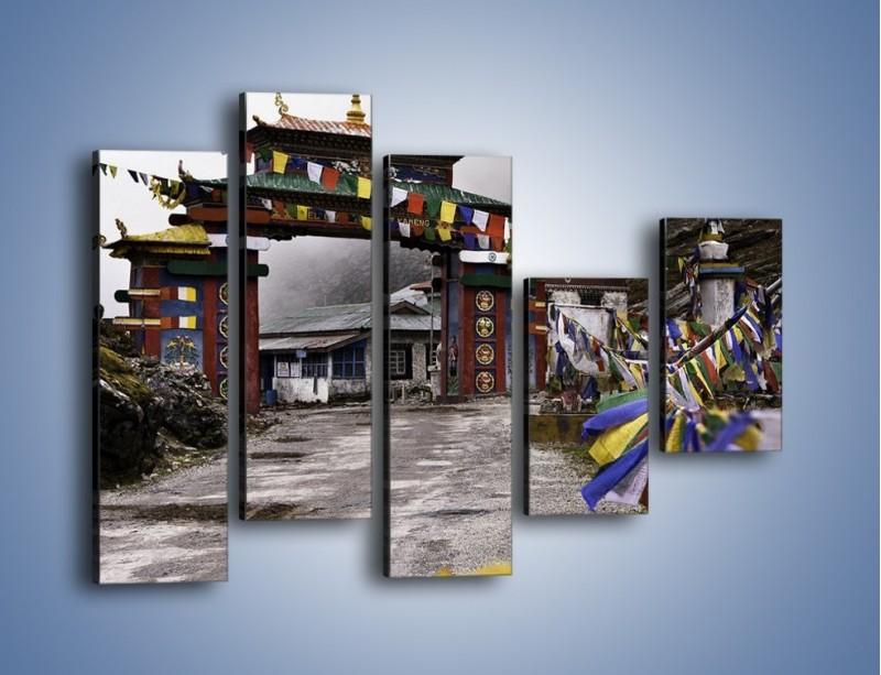 Obraz na płótnie – Brama do miasta Tawang w Tybecie – pięcioczęściowy AM689W4