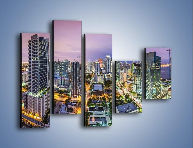 Obraz na płótnie – Centrum Miami – pięcioczęściowy AM702W4