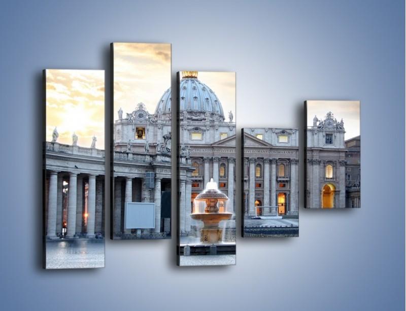 Obraz na płótnie – Bazylika św. Piotra w Watykanie – pięcioczęściowy AM722W4