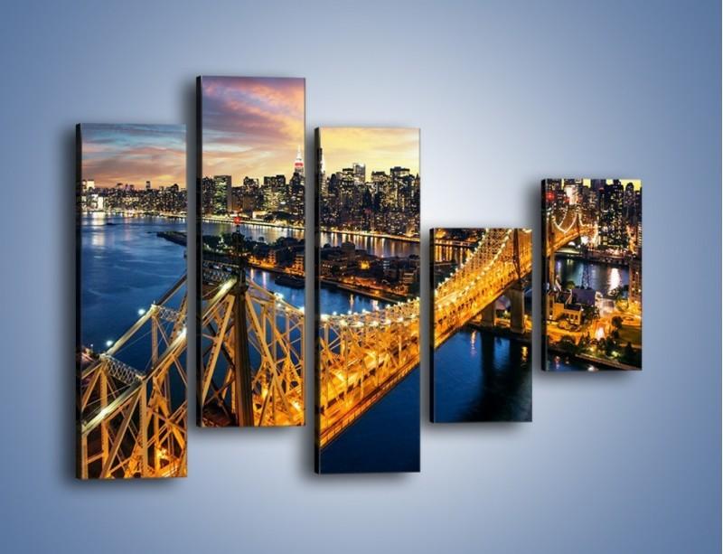 Obraz na płótnie – Queensboro Bridge w Nowym Yorku – pięcioczęściowy AM768W4