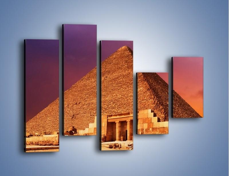Obraz na płótnie – Piramida w Egipcie – pięcioczęściowy AM812W4