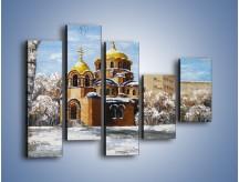 Obraz na płótnie – Cerkiew w trakcie zimy – pięcioczęściowy GR024W4