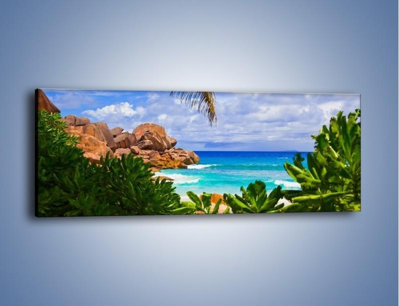 Obraz na płótnie – Urlop pod palmami – jednoczęściowy panoramiczny KN1191A