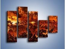 Obraz na płótnie – Bitwa z demonami – pięcioczęściowy GR137W4