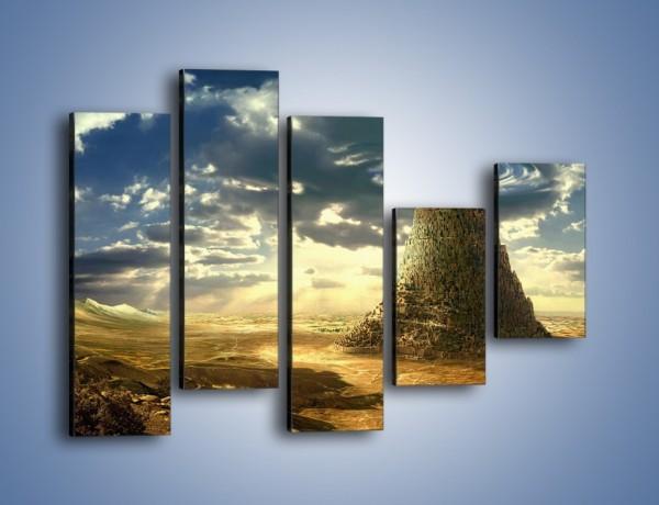 Obraz na płótnie – Przez górę aż do chmur – pięcioczęściowy GR139W4