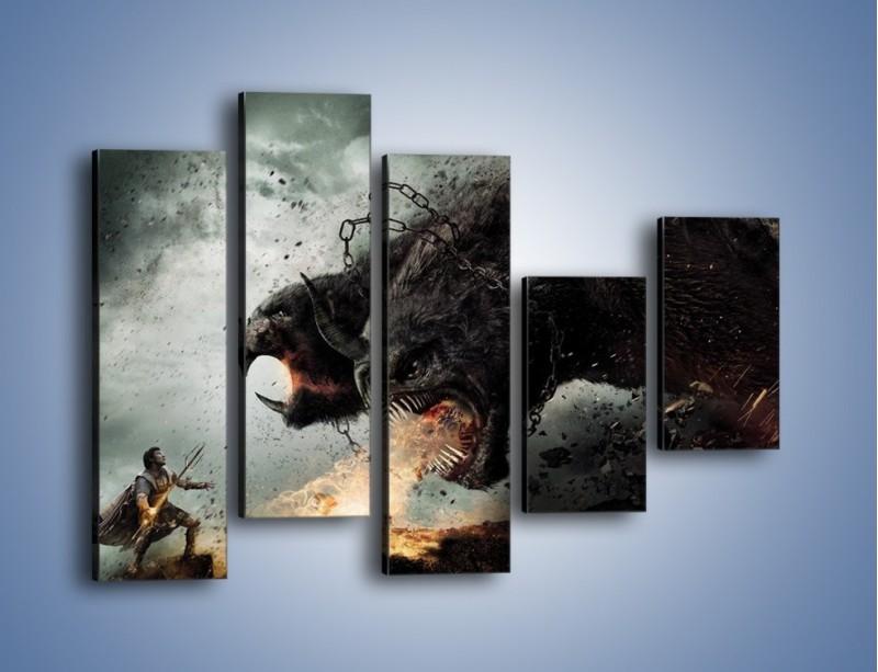 Obraz na płótnie – Groźny podmuch potworów – pięcioczęściowy GR174W4