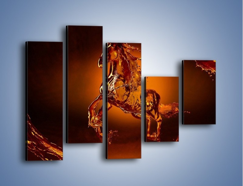 Obraz na płótnie – Wodny koń w mocnym świetle – pięcioczęściowy GR228W4