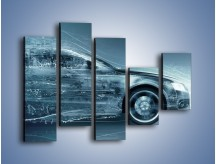 Obraz na płótnie – Auto z prędkością światła – pięcioczęściowy GR264W4