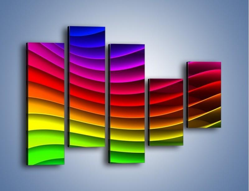 Obraz na płótnie – Falą w kolorze – pięcioczęściowy GR393W4