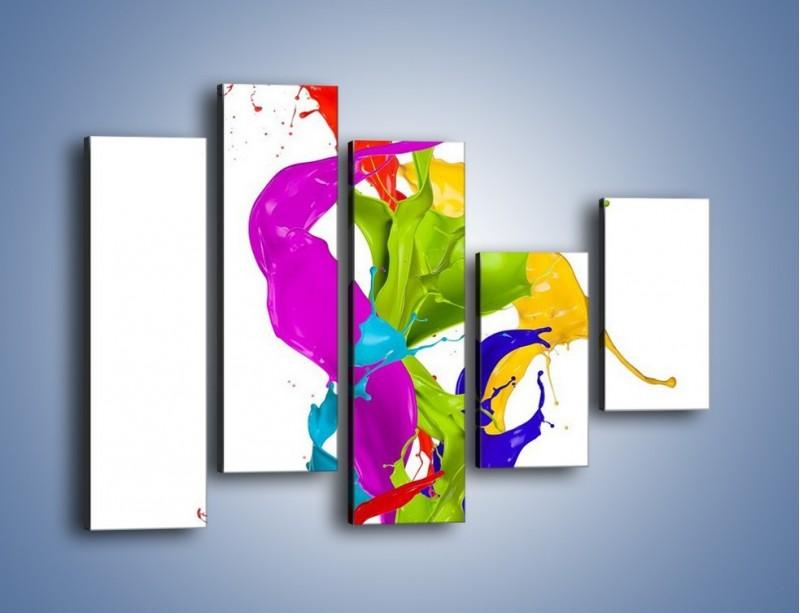 Obraz na płótnie – Wirujące barwy – pięcioczęściowy GR420W4