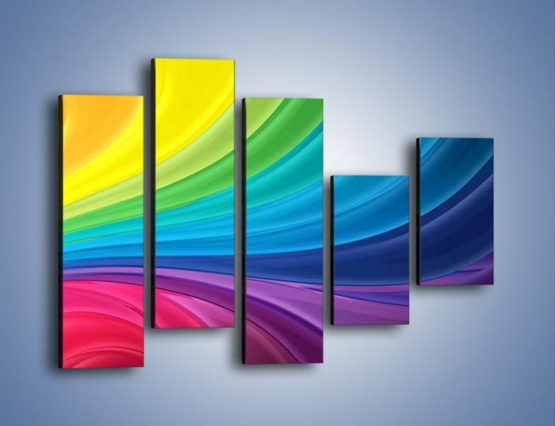 Obraz na płótnie – Zachowane kolory tęczy – pięcioczęściowy GR424W4